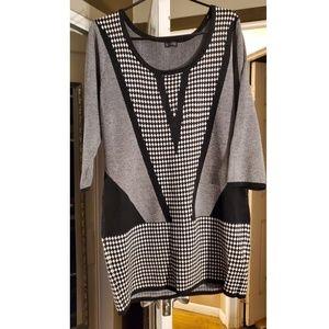 Black and White Sweater Dress